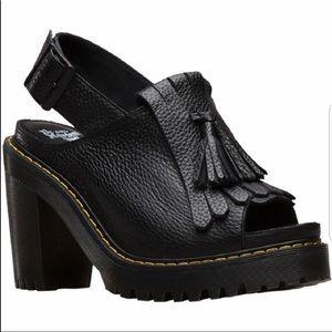 Dr Martens Seraphina Slingback Black Leather Shoe